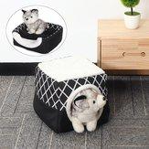للطي الصوف الدافئة جرو بيت الكلب القط الحيوانات الأليفة سرير كهف النوم حصيرة وسادة Soft وسادة