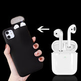 Bakeey Multifunction Creative 2 in 1 Anti-scratch Shockproof Matte PC Protective Case for iPhone 11 & Apple Airpods 1/2