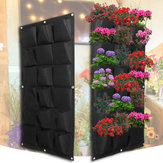 18 Pocket Planting Bag Garden Wall Vertical Flower Herb Greening Hanging Outdoor