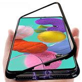 Bakeey Metal المغناطيسي الامتزاز فليب الزجاج المقسى حالة وقائية ل Samsung غالاكسي A51 2019