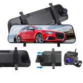 9,66 Zoll 1080P Auto Rückspiegel DVR Kamera Dash Cam Full Screen Touch Recorder