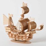 DIY 3D Holz handgefertigt montieren dreidimensionale Marine Segelschiff Modellbau Spielzeug