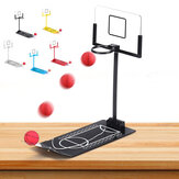 Basketball Game Toys Metal Desktop Decoration Foldable Shooting Rack Stress Relief Ornament Creative Office Home Table Decor Gift