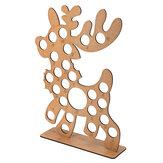 عيد الميلاد المجيء التقويم الخشبي عيد الميلاد الأيائل الديكور يناسب 25 دائري حلوى الشوكولاته حامل الرف