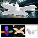 E27 / E26 AC165V-265V Blanc chaud Colorful 60W 2835 164LED Lame de ventilateur de plafond ampoule lampe de garage déformable