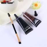 Music Flower 2 Color Eyebrow Gel Eye Brow Enhancers Waterproof Makeup Brush Set