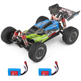 Wltoys 144001 1/14 2.4G 4WD High Speed Racing RC Авто Модели автомобилей 60 км / ч Два Батарея