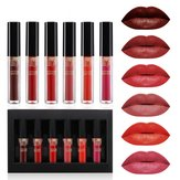 6PC/Set Lip Gloss Lipstick Matte Waterproof Long Lasting Nud