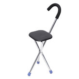 Travel Camping Cane Walking Stick Fishing Chair Portable Folding Tripod Stool Hiking Seat