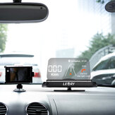 Universal Mirror HUD Head Up display Auto Car Cell Phone GPS Navigation Image Reflector Holder Stand Speed Projector KMH MPH Speedometer Car Detector