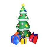 2.1 М Надувные Рождественские Подарки Елка Свет LED Лампа Крытый На открытом воздухе Двор Декор AC100-240V