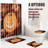 Halloween Duschvorhang Toilette Soft Samt rutschfeste Küchenmatte Typ 3