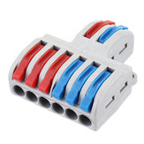 10pcs SPL-62 Two Groups of Parallel One-in and Three-out Splitter Terminal Wire Connector