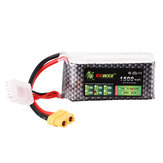 LION Power 14.8V 1500mAh 40C 4S Lipo Batterie XT60 Stecker für FPV Racing Drone