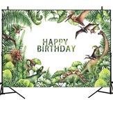 Dinosaur Forest Theme Birthday Backdrop Vinyl Studio Backdrop Photography Props Photo Background Decorations
