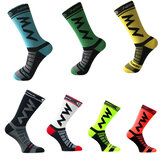 1Pair Sports Anti Slip Cycling Compression Stockings Unisex Breathable Below Knee Compression Socks
