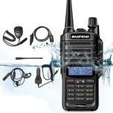 Original              6 in 1 BAOFENG UV-9R Plus 10W VHF UHF Walkie Talkie Dual Band Two Way Radio AU Plug with Speaker MIC & Earphone & Programming Cable & 48cm Antennas