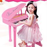 31 مفاتيح الأطفال أطفال لوحة المفاتيح الإلكترونية البيانو ميكروفون البراز الهدايا الموسيقية