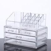 Большая Емкость Прозрачный Акриловый Рабочий стол Макияж Хранение косметики Коробка Ювелирные изделия Органайзер Акрил Дисплей Коробка