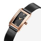 SHENGKESKK0119Dialrectangulardrapeado Mujer Reloj de cuarzo
