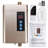 4000W Mini Electric Water Heater LCD Display Waterproof Tankless Hot Water Heater 3S Fast Heating with Remote Control For Bathroom Kitchen Washing