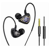 Bakeey X62 Graphene Double Dynamic Driver Earphone 3.5mm Wired In-ear Heavy Bass Stereo Earbuds with Mic