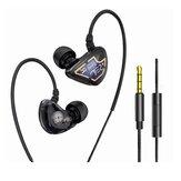 Bakeey X62 Graphene dubbele dynamische driver oortelefoon 3,5 mm bedrade in-ear zware bas stereo oordopjes met microfoon