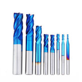 Drillpro 8Pcs Blue Naco 2-12mm 4 flauti Fresa in metallo duro Set HRC50 Utensile per fresa in acciaio al tungsteno