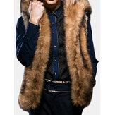 رجلفوالفراءكبيرمقنعمعطف الشتاء سميكة دافئ الأزياء سترة