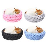 40CM Handmade Knitting Pet Cat Dog Pet Bed Nest House Cushion Mat Pad Washable