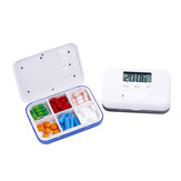 LCD Digital Timer Pill Box 5 Alarme Elektrische Uhr Erinnerung Pillenetui