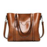 Женская большая кожаная сумка в стиле ретро Сумка Сумка через плечо