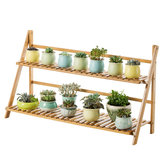 2/3/4 Tiers Plant Flower Pot Storage Organizer Shelf Bamboo Rack Bookshelf Environmental For Home Office Garden Living room Bedroom