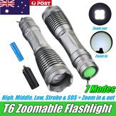 Elfeland T6 Rechargeable Flashlight Torch Lamp Light Zoomable Tactical