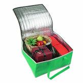 14 inç Kampçılık BARBEKÜ Piknik Çanta Gıda Yalıtımlı Çanta Pizza Yalıtımlı Termal Çanta