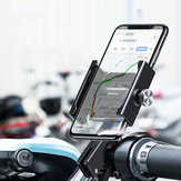 Baseus Aviation Alloy Bicycle Motorcycle Scooter Manubrio Specchio retrovisore Supporto per telefono Rotazione a 360º per Smart Phone da 4,7-6,5 pollici