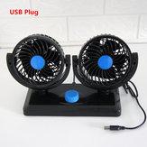 12 V 24 V 360 Graus Ajustável Em Todo O Carro Auto Refrigeração de Ar Ventilador de Cabeça Dupla Baixo Ruído Carro Auto Ventilador de Ar Ventilador de Carro Acessórios