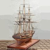 1:64 Scala Assemblaggio fai-da-te Diane Modello di nave Kit fai-da-te Barche a vela in legno Decorazione del desktop Giocattoli per bambini Regalo di compleanno Stile più recente