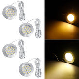 4PCS Warm White 2M 12V LED Down Lights Cabin Ceiling Lamps For RV Trailer Boat