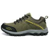 Erkek Deri Su Geçirmez Outdoor Ayakkabı Yürüyüş Orman Koşu Kampçılık Kaymaz Spor Ayakkabı