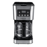 220V Coffee Maker 12 Cups 1.5L Semi-Automatic Espresso Making Machine Stainless Steel