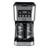 Ekspres do kawy 220 V 12 filiżanek Półautomatyczny ekspres do kawy 1,5 l Stal nierdzewna