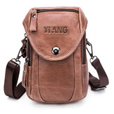 Men Multifunction Small Vintage Gneuine Leather Bag