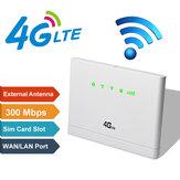 Roteador sem fio 3G / 4G-CPE LTE Modem de ponto de acesso móvel de 300Mbps Slot para cartão SIM Modos quentes 3/5
