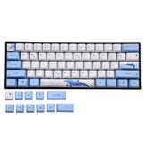 72 chaves Whale Keycap Set OEM Profile PBT Sublimation Keycaps para teclado Mecânico