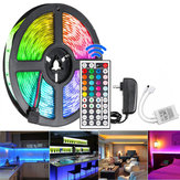 5M 300 LED Strip Light Waterproof String Lamp 12V 2835 SMD RGB + 24 / 44Keys IR Controller + US Power Adapter