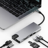 MATE 9 9-in-1-USB-C-Datenhub mit 2-Port USB 3.0 TF SD-Kartenleser USB-C PD Laden des HDMI 4K-Displays VGA 3,5-mm-Audioanschluss für MacBooks Notebooks Telefon