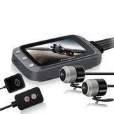 3 Inch WiFi 1080P+1080P FHD Motorcycle DVR Dual Dash Camera Front Rear View Waterproof GPS Driving Video Recorder