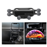 Bakeey Vertical Horizontal Gravity Linkage Automatic Lock Air Vent Car Phone Holder Car Phone Mount For 4.0-6.8 Inch Smart Phone for iPhone 11 for Samsung Xiaomi Mi 9T Xiaomi Redmi Note 8 Non-original
