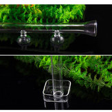 20-45cm Aquarium Shrimp Glass Feeding Tube Food Feeder Fish Tank Suction Cup